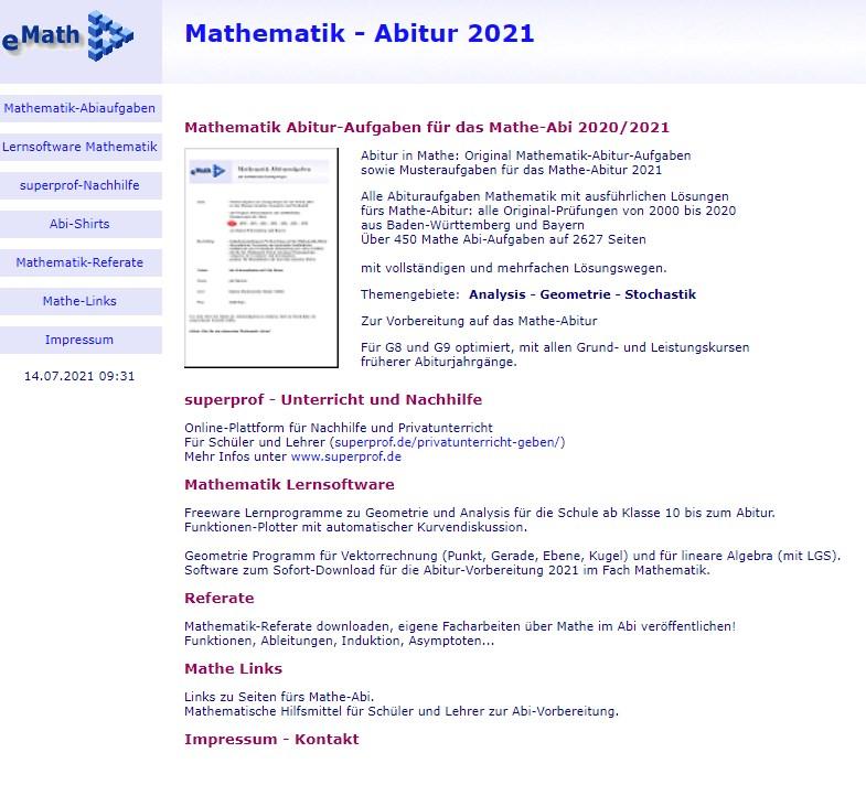website e math
