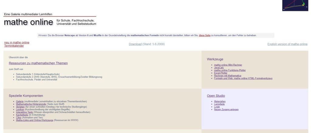 website mathe online