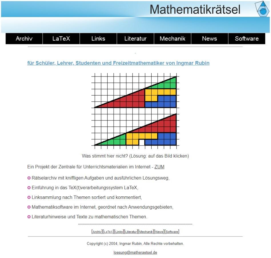 website matheraetsel